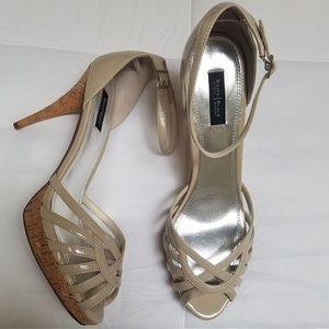 Neutral cork heel from White House Black  Market